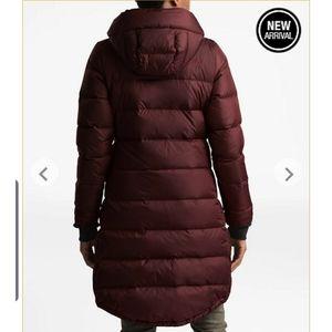 NWOT north face metropolitan long puffer jacket
